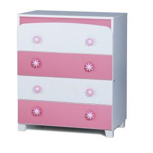 Скрин Ливио Dizain Baby - бял + розов