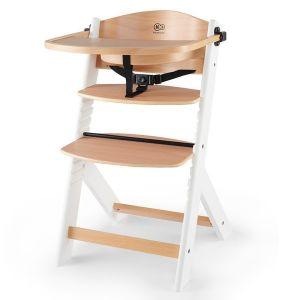 Столче за хранене ENOCK KINDERKRAFT - дървено/бели крака