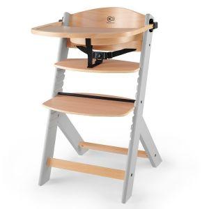Столче за хранене ENOCK KINDERKRAFT - дървено/сиви крака