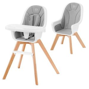 Столче за хранене 2в1 TIXI KinderKraft - сиво
