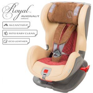 Детско столче за кола Glider Royal 9-25 кг. с IsoFix AVIONAUT - бежово/червено