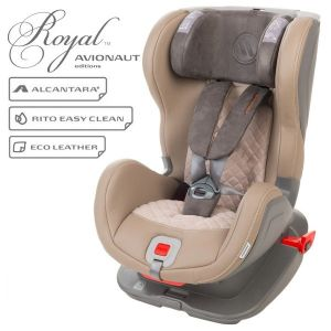 Детско столче за кола Glider Royal 9-25 кг. с IsoFix AVIONAUT - бежово/сиво