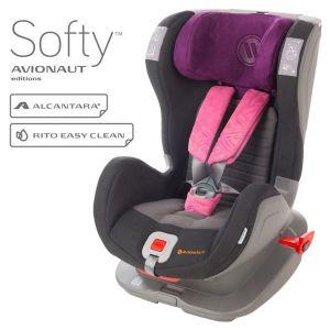 Столче за кола 9-25 кг. Glider Softy AVIONAUT - черно/розово