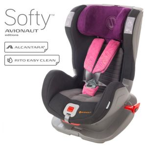 Столче за кола 9-25 кг. с IsoFix Glider Softy AVIONAUT - черно/розово