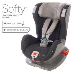 Столче за кола 9-25 кг. с IsoFix Glider Softy AVIONAUT - черно/сиво