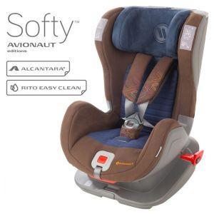 Столче за кола 9-25 кг. с IsoFix Glider Softy AVIONAUT - кафяво/синьо