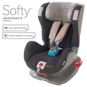 Столче за кола 9-25 кг. с IsoFix Glider Softy AVIONAUT - сиво