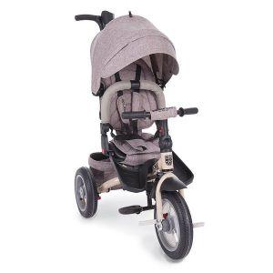 Детска триколка Premio KikkaBoo - Beige Melange / въздушни гуми/